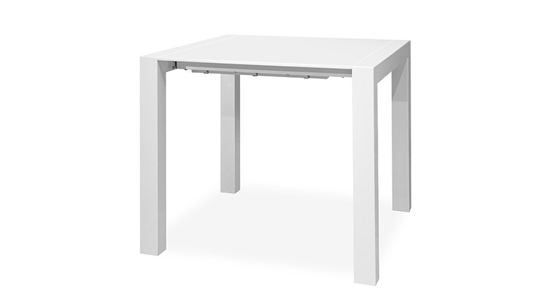 Table haute design contemporain blanc brillant mobiliermoss