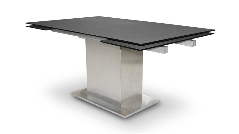 Table de salle manger extensible aukland avec plateau en for Table design 10 personnes