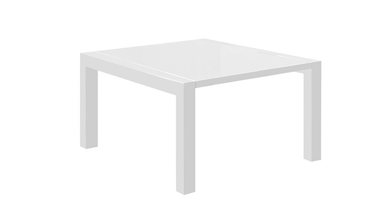 Table laquée a rallonges blanc mat tereck mobiliermoss