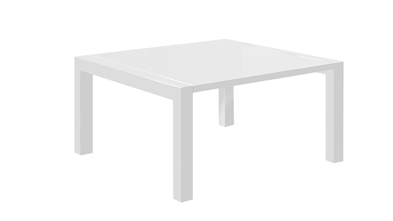 Table laquee a rallonges blanc mat tereck mobiliermoss