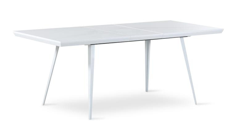 Table blanche de salle manger rallonge cathya format for Table scandinave a rallonge