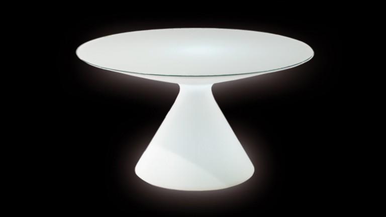 table lumineuse exterieur polyethylene verre blanc ED slide mobiliermoss