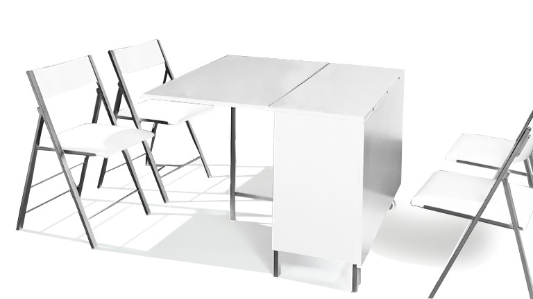 table modulable hub chaise integrer console noir blanc2
