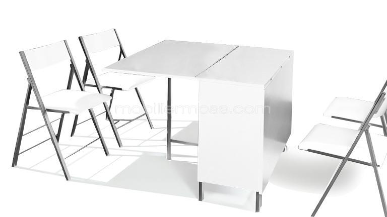 table modulable et relevable avec chaises hub mobilier moss. Black Bedroom Furniture Sets. Home Design Ideas