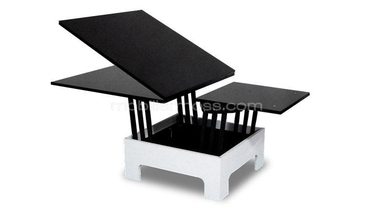Table rallonges hauteur modulable zebra mobilier moss for Table salle a manger qui se deploie