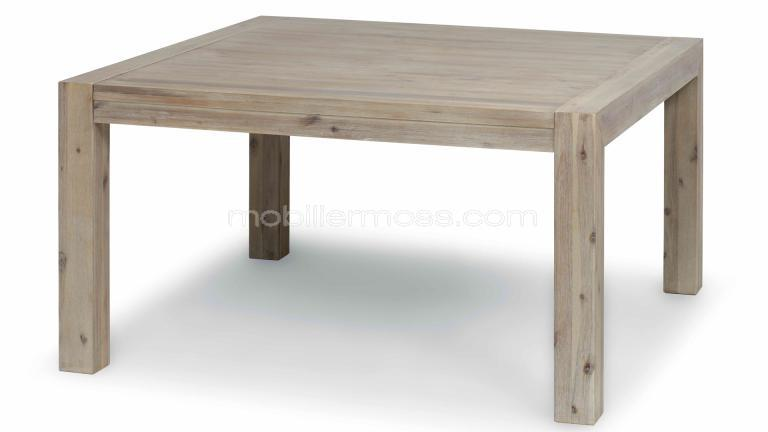 mobilier table table carr e bois avec rallonge. Black Bedroom Furniture Sets. Home Design Ideas