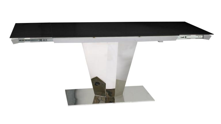 Table contemporaine en verre avec rallonge for Table rallonge noire