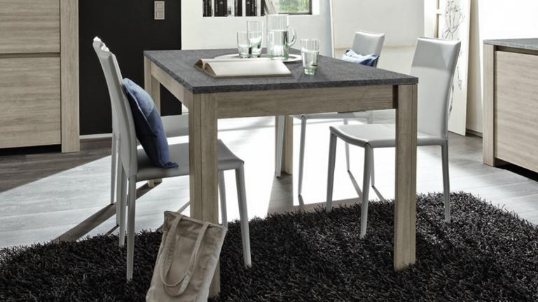 table de salle manger eblano avec plateau imitation. Black Bedroom Furniture Sets. Home Design Ideas