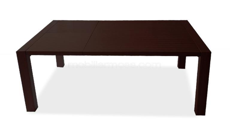 table rallonge design bois wengue