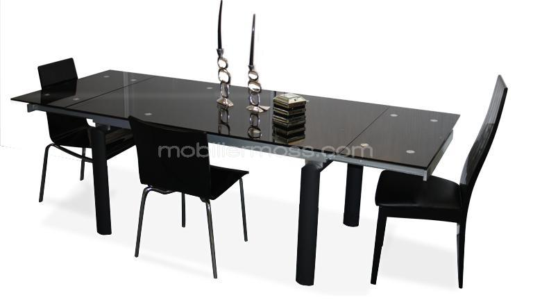 table rabattable cuisine paris table salle a manger noire. Black Bedroom Furniture Sets. Home Design Ideas