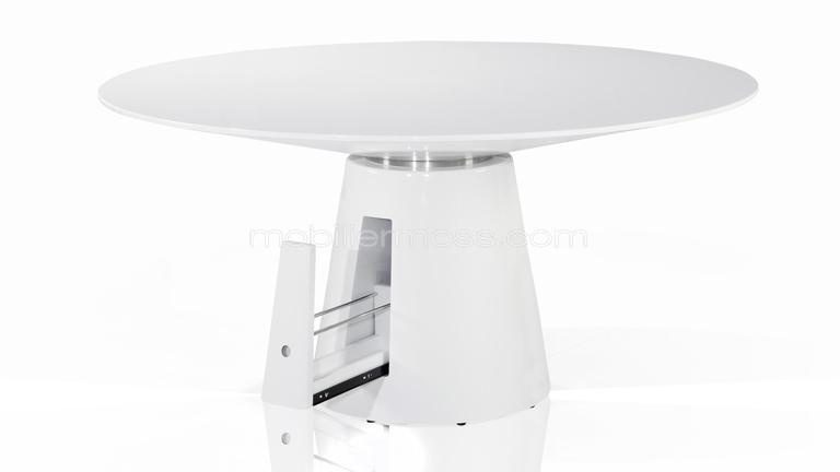 Table ronde de s jour design avec tiroir cubik for Table de sejour ronde