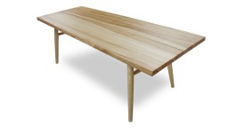 table rectangulaire 220cm bois brut 2 steppe mobiliermoss