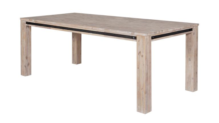 table rectangulaire bois massif acacia style industriel biais amylton mobiliermoss