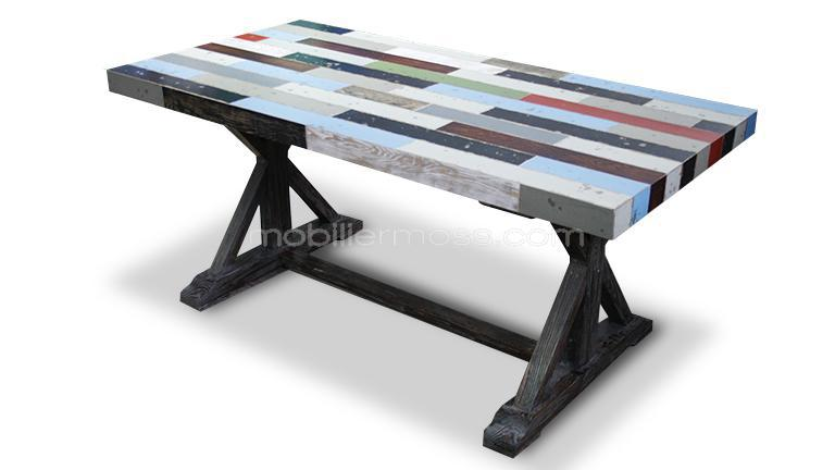 table rectangulaire multicolore brasilia mobiliermoss