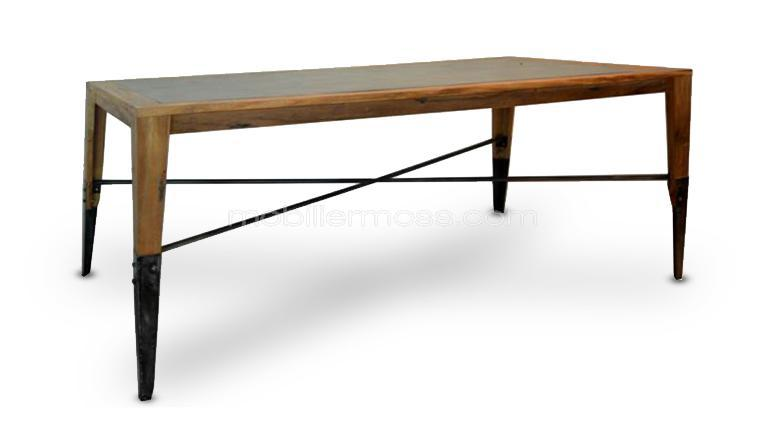 table rectangulaire plymouth bois metal mobilier moss