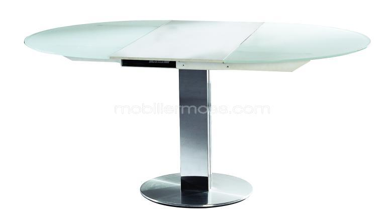 Table salle manger ronde avec rallonge for Table ronde a rallonge design