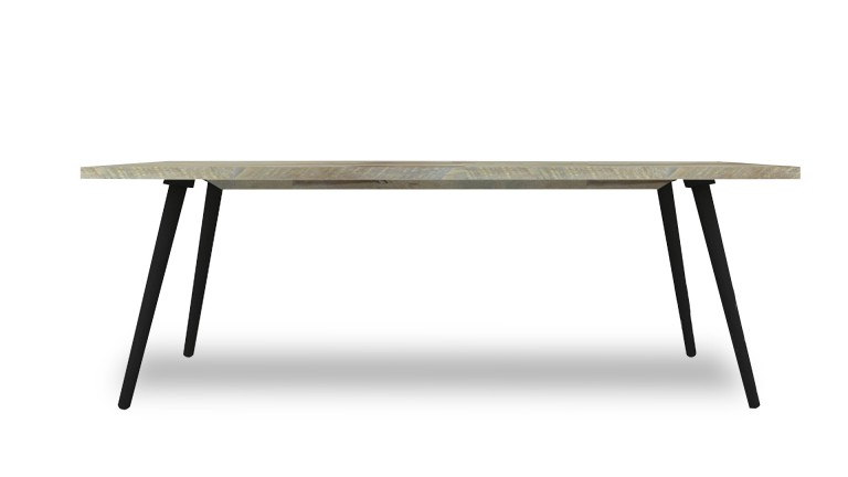 table salle a manger acacia massif pieds noirs bodenn mobiliermoss