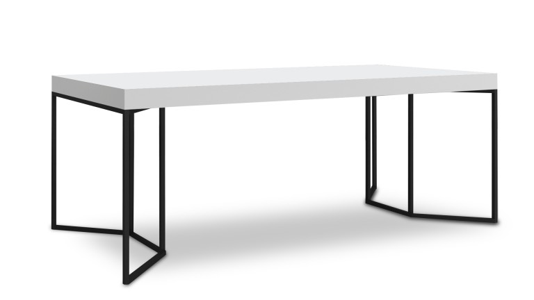 table salle a manger blanc pied metal kufstein 2 mobiliermoss