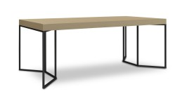 table salle a manger bois pied metal kufstein 2 mobiliermoss