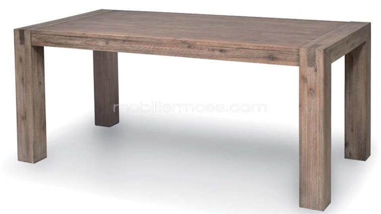 Table contemporaine en bois massif for Table salon a manger