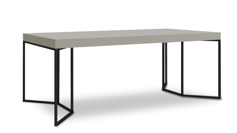 table salle a manger gris pied metal kufstein 2 mobiliermoss
