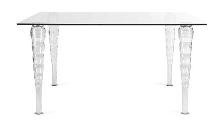 Table salle a manger plexiglass style baroque henry mobiliermoss