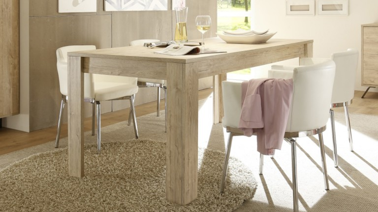 Table de salle a manger nekho rectangulaire mobilier moss for Table bois style scandinave