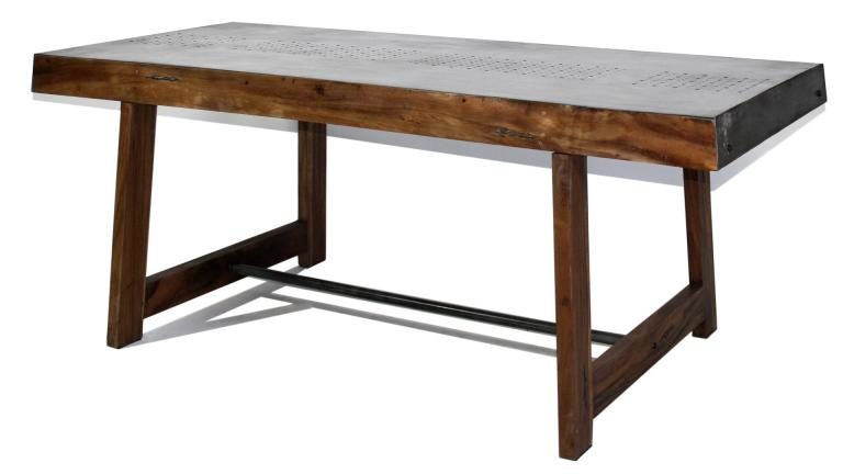 table style industriel bois massif manchester
