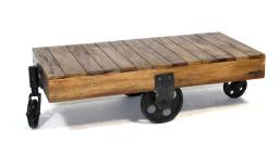 Table basse - Bolton - en bois au design industriel