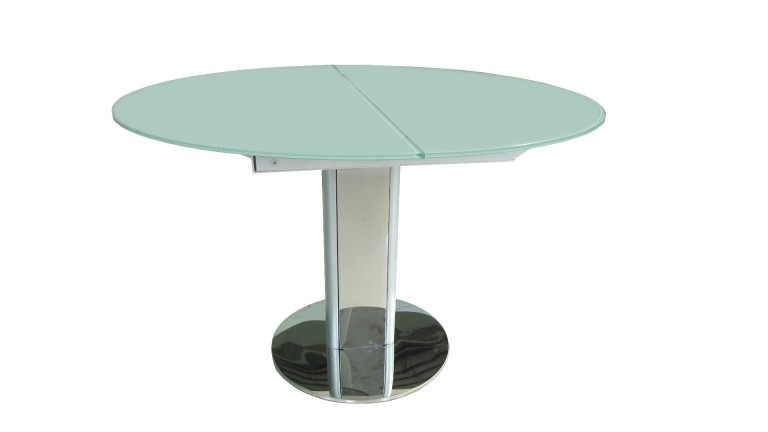 Table contemporaine en verre d couvrez la table damasia au design moderne - Table en verre trempe blanc ...