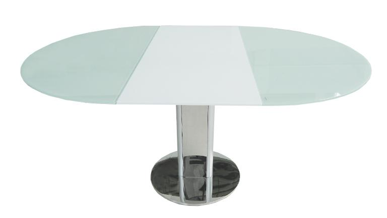 Table contemporaine en verre d couvrez la table damasia for Table un pied