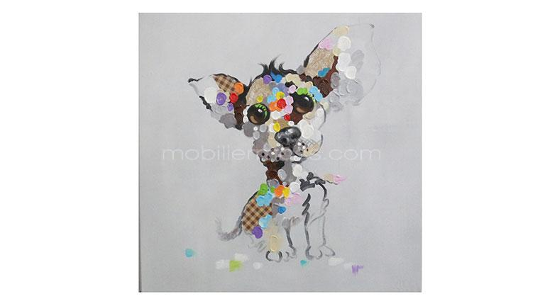 Pets tableau design mobilier moss for Tableau couleur flashy