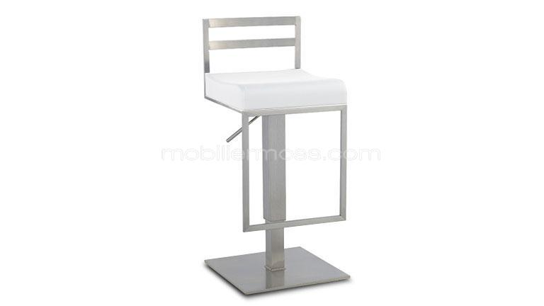 tabouret de bar design en inox bross diego mobilier moss. Black Bedroom Furniture Sets. Home Design Ideas