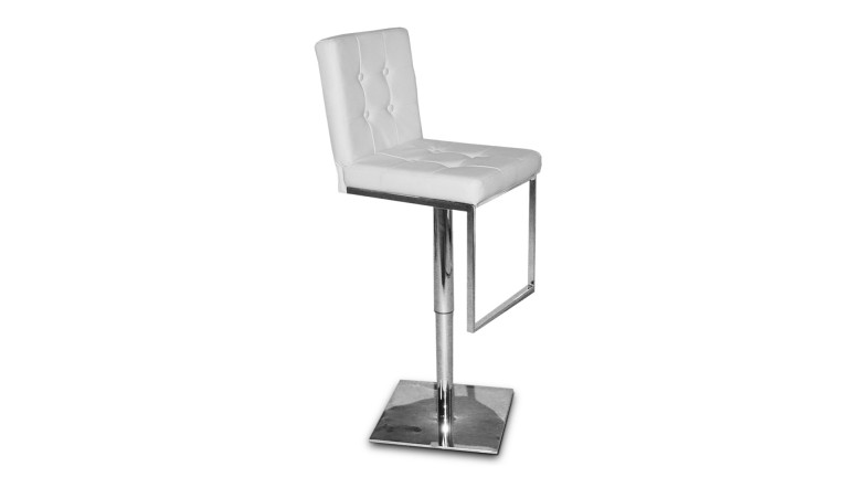 tabouret bar couleurs similicuir blanc zib mobiliermoss - Tabouret Bar Design