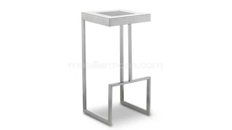tabouret inox brosse bar design metal sydney mobiliermoss