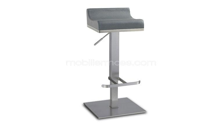 tabouret de bar reglable en inox brosse 65/90cm dallas