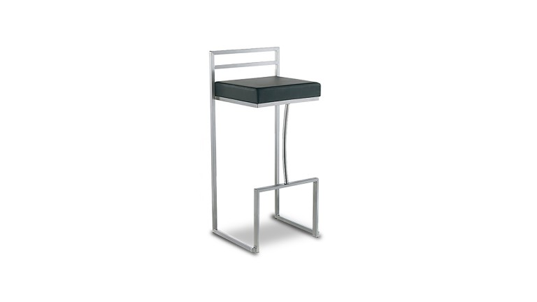 tabouret de bar design detroit en acier bross mobilier moss. Black Bedroom Furniture Sets. Home Design Ideas