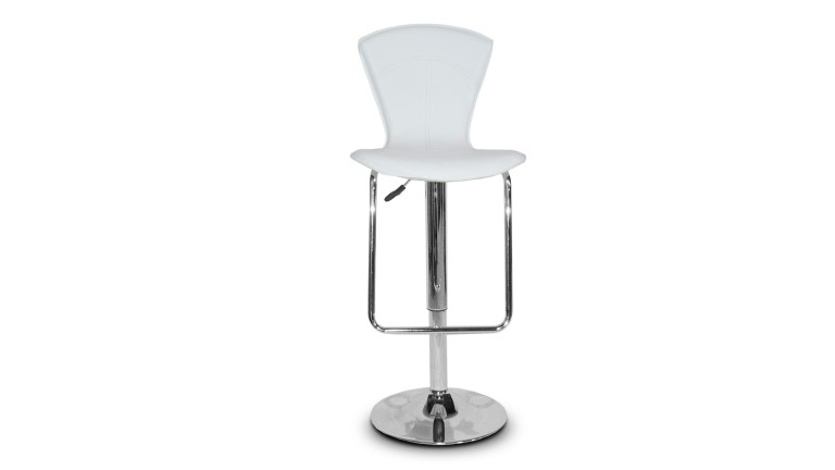 tabouret bar pied metal simili blanc undo mobiliermoss