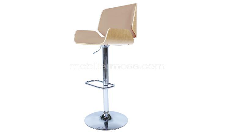 tabouret de bar moderne avec pied chrom braak mobilier moss. Black Bedroom Furniture Sets. Home Design Ideas
