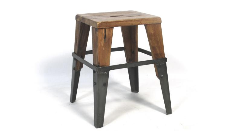 tabouret style industriel vinatge plymouth