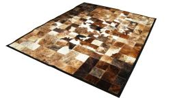 Mobiliermoss.com - Peau de vache india patchwork marron et blanc