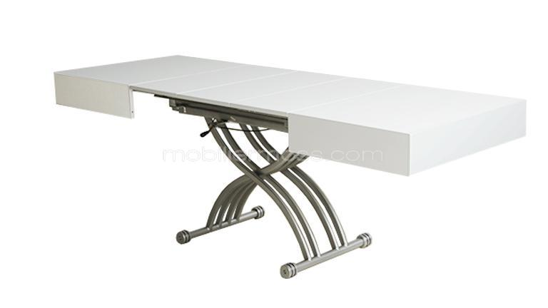 Table basse modulable twinga mobilier moss - Table de salon convertible ...