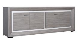 Mobiliermoss.com - Grecy - bahut design gris 4 portes