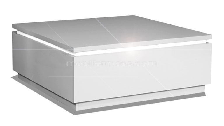Table basse carr e avec luminaires inclus atract for Table basse design blanc