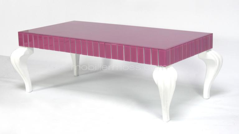 table basse originale rose et blanche magnilia mobilier moss. Black Bedroom Furniture Sets. Home Design Ideas