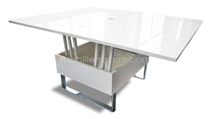 Table basse relevable nantes - Table salon convertible ...