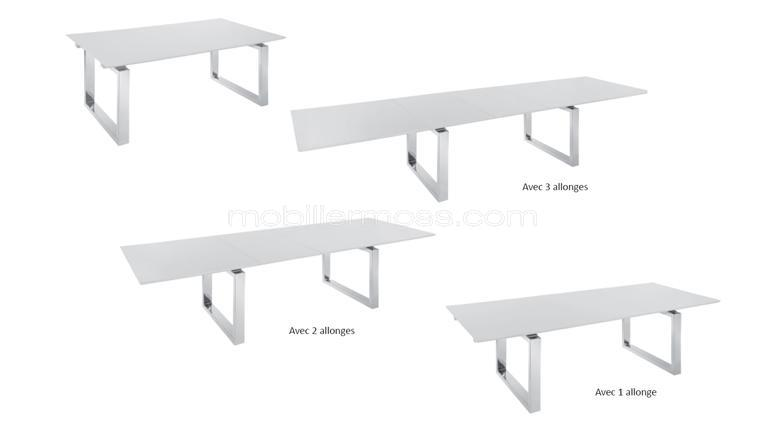 Table de salle manger avec rallonge design - Table rallonge design ...