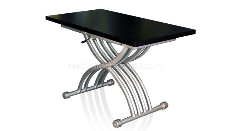 Table contemporaine hauteur r glable v rona mobilier moss - Table de salon modulable ...