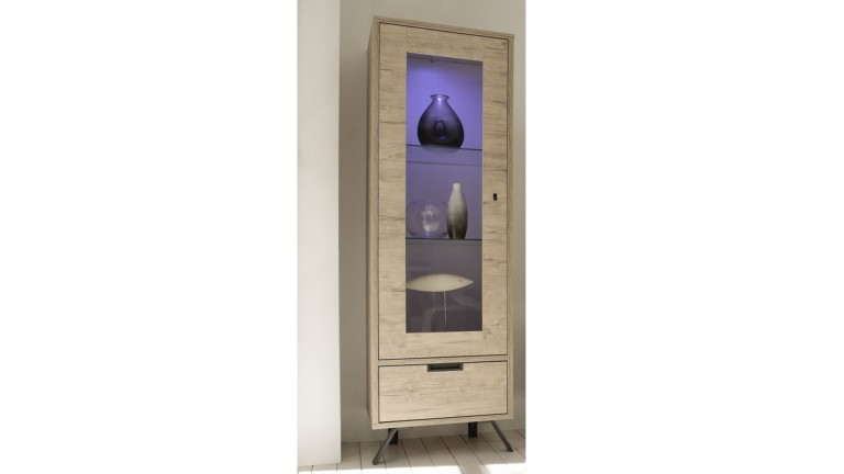 vitrine 1porte eclairee rangement scandinave salon design nekho mobiliermoss