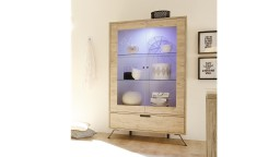 vitrine 2portes eclairee rangement scandinave salon design 2 nekho mobiliermoss